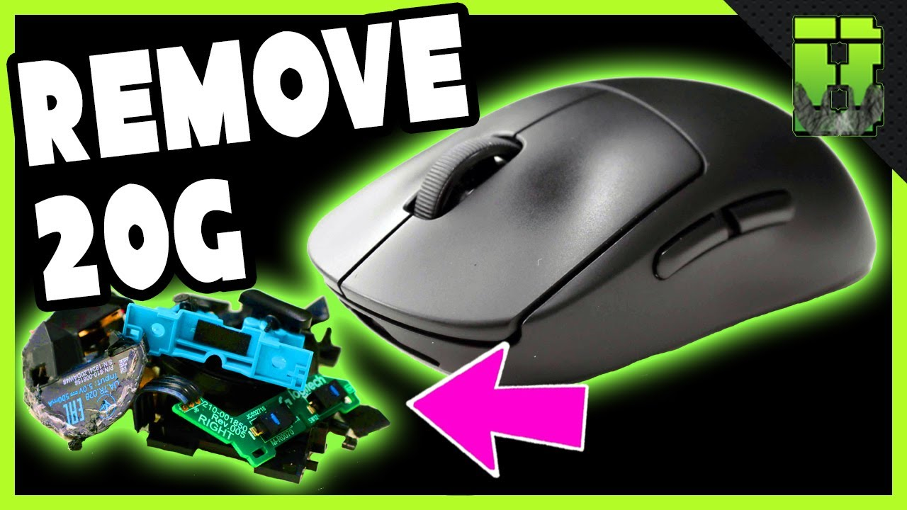 Logitech G Pro Wireless Weight Reduction Gaming Mouse Mods