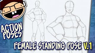 How to Draw a FEMALE STANDING POSE (Version 1) | Narrated Easy Step-by-Step Tutorial