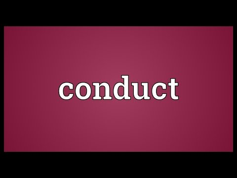 Conduct Meaning