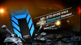 ADATA HD710 Waterproof Shock Resistant USB 3 0 External Hard Drive