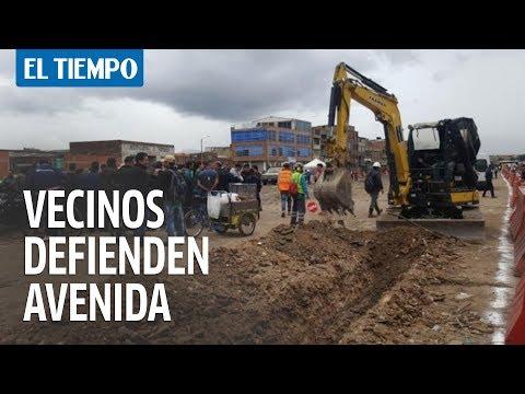 Residentes salieron a defender megaconstrucción de avenida Guayacanes | EL TIEMPO