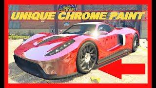 GTA 5 Online: BEST PAINT JOBS !!! How to get CHROME UNIQUE Colour !! !