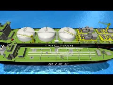 Digital Durian Portfolio - LNG FPSO (3D animation)