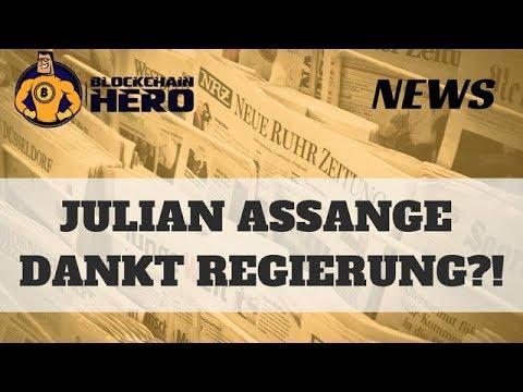 """Julian Assange dankt US-Regierung für """"erzwungene Bitcoin Investition"""""""