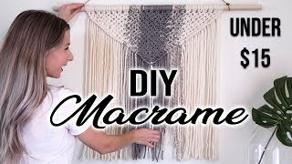 HOW TO: DIY Macrame Wall Hanging | Under $15