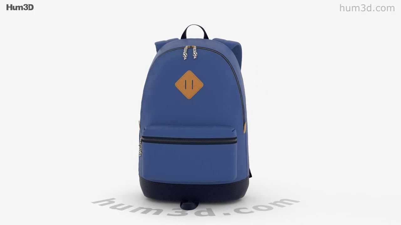Backpack 3D model by Hum3D com