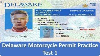 Delaware Motorcycle Permit Practice Test 1