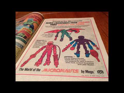 COMIC MAN PRODUCTIONS: MEGO MICRONAUTS  & ALIEN INVADERS SPIDER-MAN COMIC BOOK AD 1979 TAKE 2