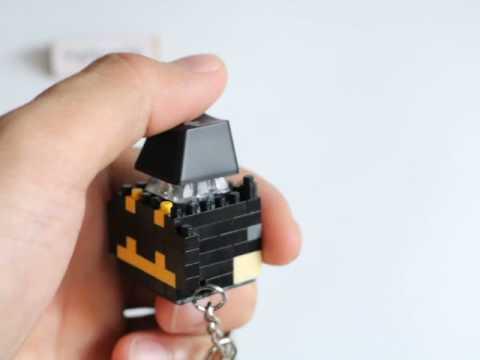 ce9758e40a1 Cool Handmade Batman Geek Mechanical Keyboard LED Switch Gadget Toy  Lighting Keycap Button Keychain