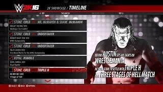 WWE 2K16 Showcase Stone Cold vs. Triple H No Way Out 2001