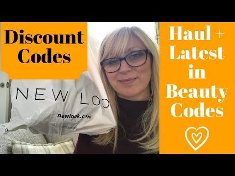 NEW LOOK Haul & LATEST IN BEAUTY discount codes