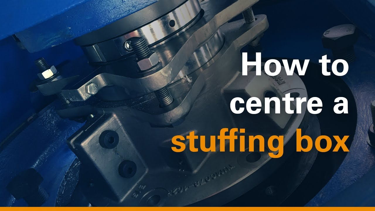 How to centre the stuffing box on a Warman® slurry pump