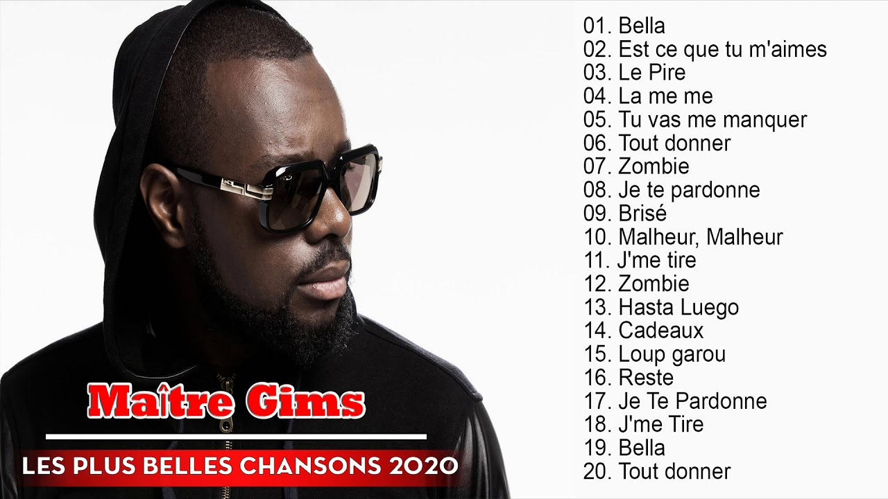 Maître Gims Greatest Hits Playlist 2020 - Maître Gims Best Of Album 2020 - YouTube