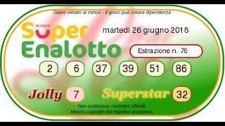Estrazioni Lotto e Superenalotto di oggi, martedì 26 giugno 2018: dalle 20 i numeri vincenti