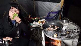 인류 마지막 생존자의 리얼 야생먹방. 삼겹살 진짜 맛있게 먹는 방법!