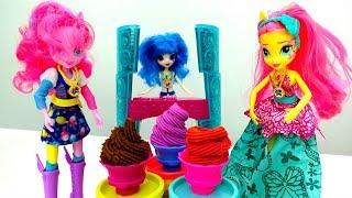Мороженое для супер-вечеринки - Куклы-пони, девочки из Эквестрии