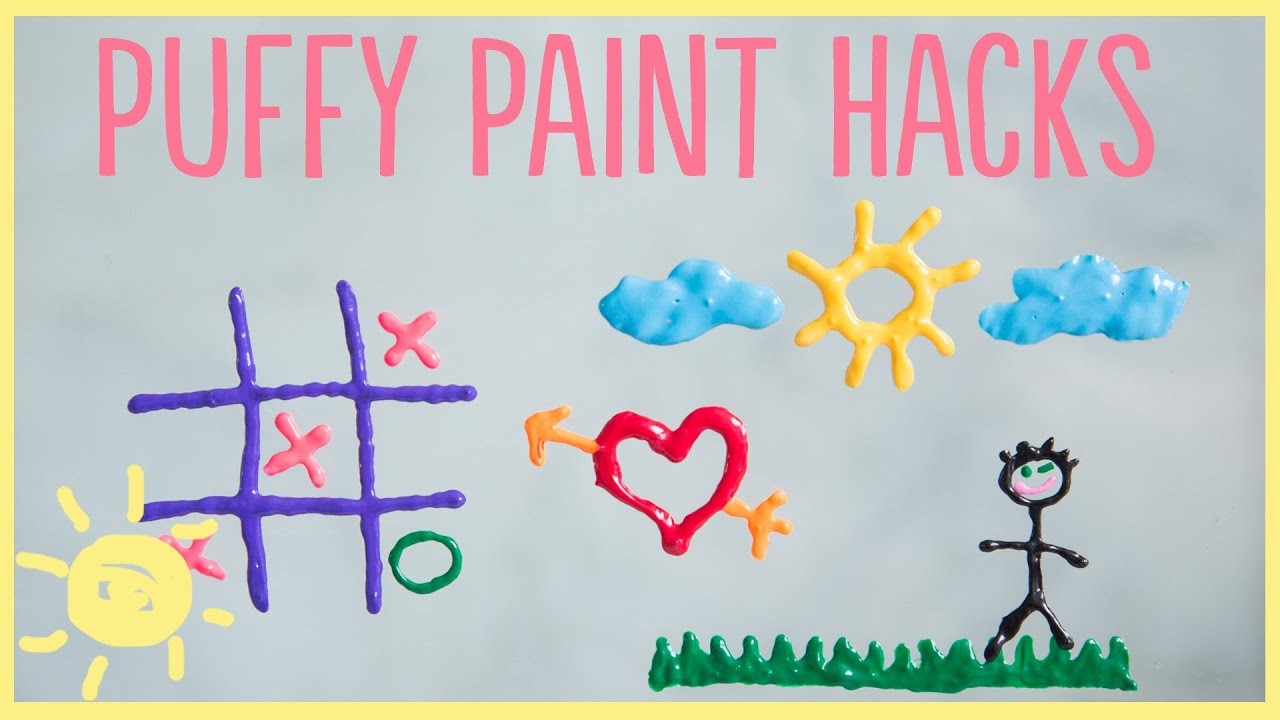 diy 3 puffy paint hacks youtube