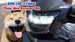 Exciter 150 ▶ Đèn LED 2 tầng ZHI.PAT siêu sáng, hướng dẫn lắp trong 5 phút