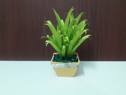Handmade Leaf Plants With Paper/DIY Leaf Plants with Paper/Home decor plant With Pot