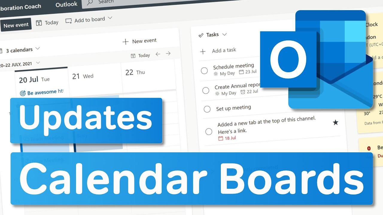 Microsoft Outlook   Calendar Board Updates