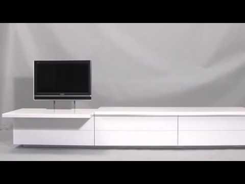 Tv Meubel Design.Design Tv Meubel Met Lcd Tv Lift Youtube