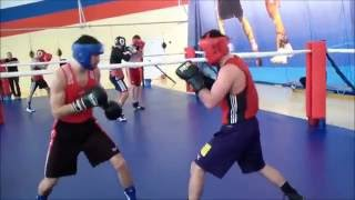 Olympic Russian boxing team training(drilling technique)