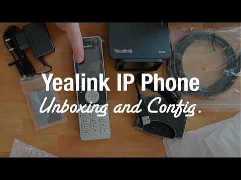 Yealink W60P Cordless DECT IP Phone (Unboxing and Setup)