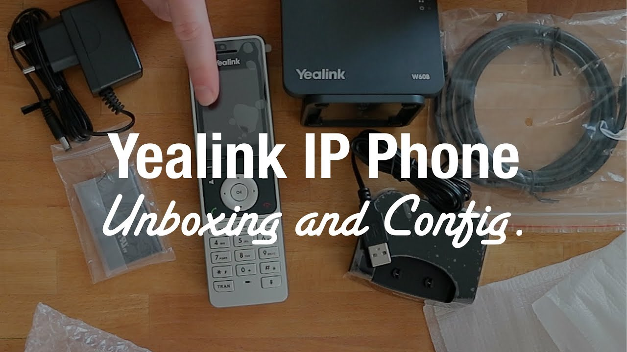 Yealink W60P Cordless DECT IP Phone (Unboxing and Setup