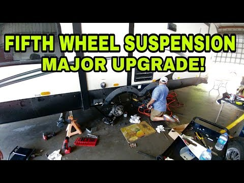 Adding Suspension and Shocks to Fifth Wheel RV