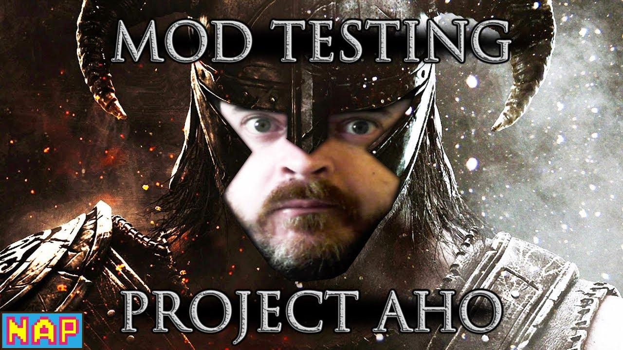 SKYRIM Mod Testing - Project AHO - Самые лучшие видео