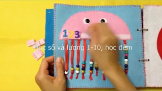 Quiet Book for kids/ Skill practice book 10/felt book/busy book