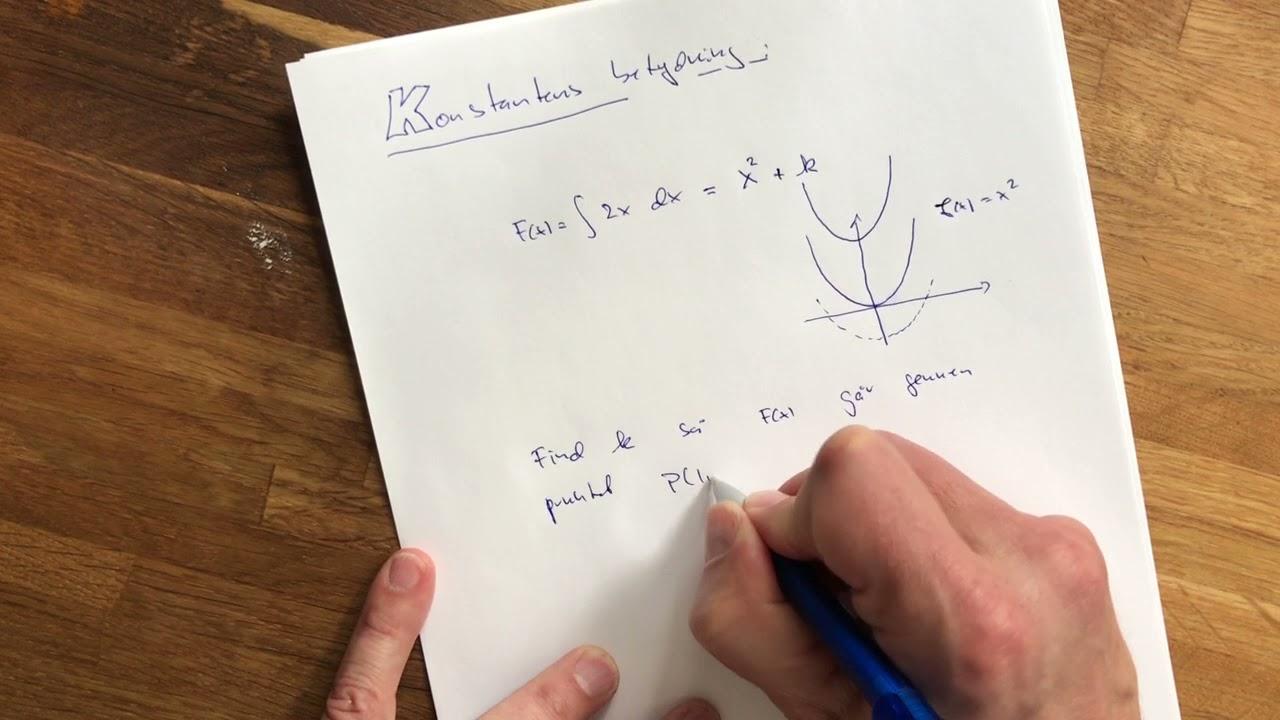 tt integralregning 02 integrationskonstant
