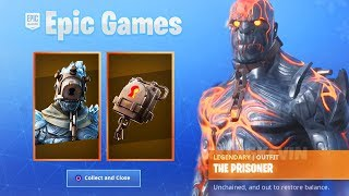 How To Unlock + Upgrade New PRISONER Fortnite Snowfall Skin! (New Fortnite Snowfall Skin Unlocked)