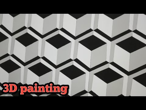 3d Wall Painting \ 3d Wall Decoration Effect / 3d Wall Texture New Design / Interior Design