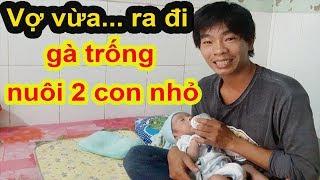 Xót lòng cảnh chàng trai trẻ cảnh gà trống nuôi 2 con khi vợ vừa ra đi vì bệnh - Guufood