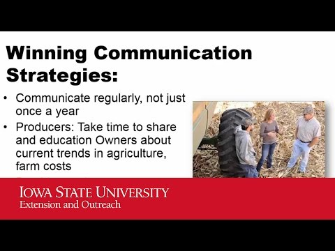 2016 Iowa Farmland Leasing - Communication
