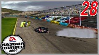 AN INCREDIBLE LAST LAP BATTLE... FOR LAST! | NASCAR Thunder 2004 Career Mode Ep. 28