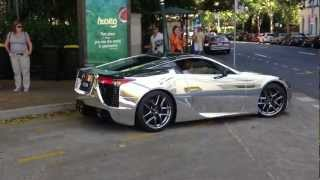 Lexus LFA wrapped in CHROME Launching, Exhaust Sound is incredible Thumbnail