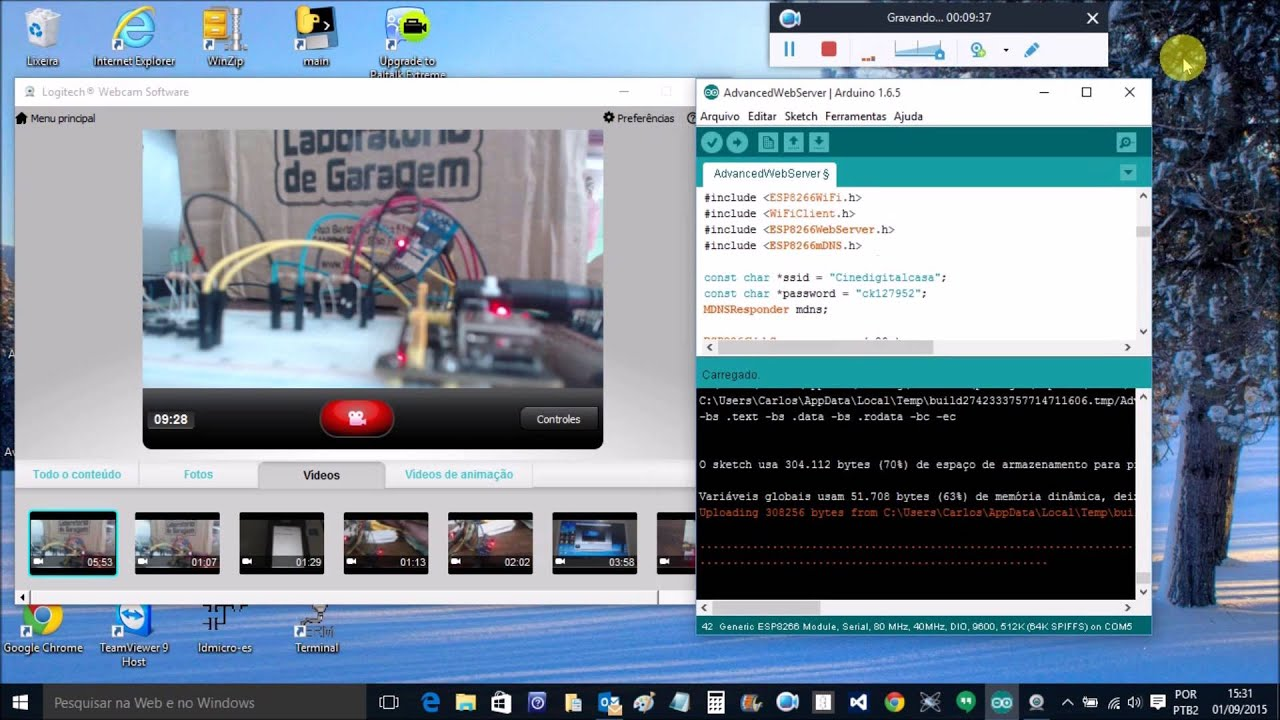 Esp upload arduino sketch youtube