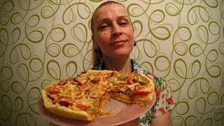 Вкусная Домашняя пицца на сковороде за 10 минут рецепт Секрета приготовления теста(Как приготовить пиццу на сковороде за 10 минут. Ингредиенты на рецепт пиццы за 10 минут: На тесто для пиццы:..., 2016-03-03T15:10:00.000Z)