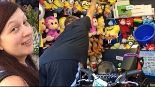 EMBARRASSING HUSBAND CHEATS AT CARNIVAL GAMES!