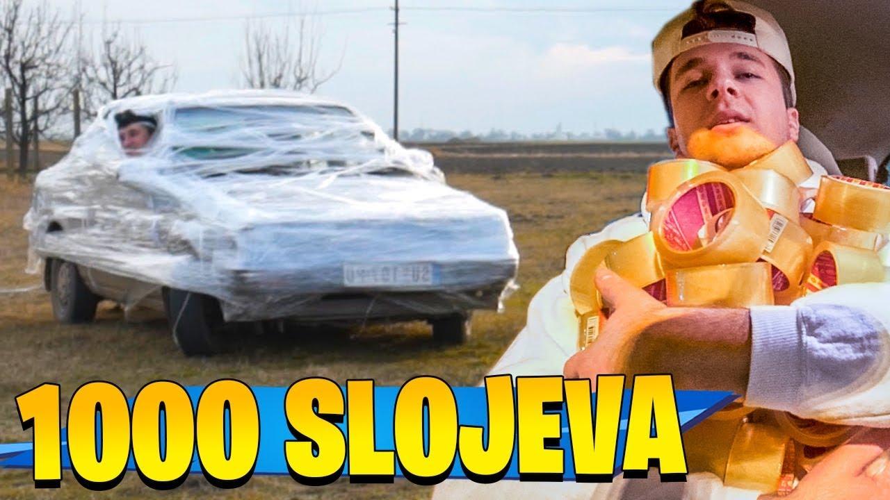 1000 SLOJEVA SELOTEJPA NA AUTOMOBILU!