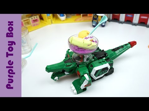 Thumbnail: Kinetic Sand Juice Mixer Toy And Animal Transformer Tobot Train Transformer