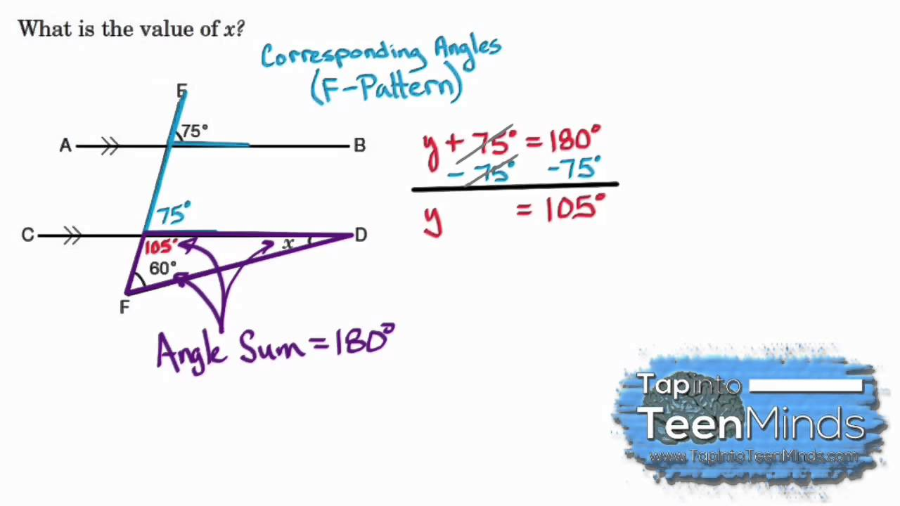 worksheet Corresponding Angles corresponding angles formed by parallel lines cut a transversal line