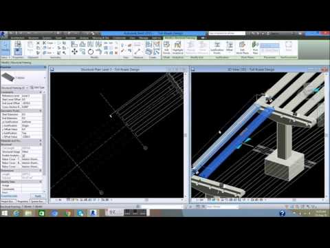05C  Design and Setting T Beam    Design Toll Road by Revit