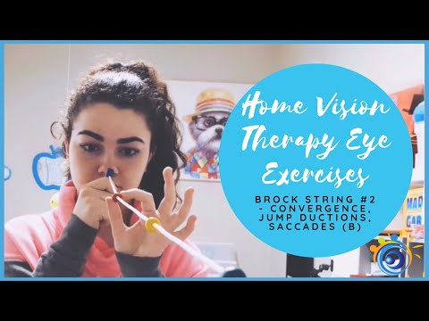 20. Brock String Home Vision Therapy To Train Convergence, Jump Ductions, & Saccades #2