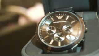emporio armani ar2453 watch unboxing   review   real vs fake
