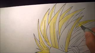 How to draw Son-Gohan Ssj2 (Kamehameha)