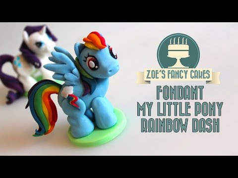 RAINBOW DASH CAKE TOPPER