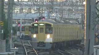 西武鉄道2000系4連 西所沢入れ換え